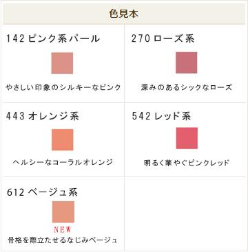 ちふれ チーク カラー(ブラシ付) 色見本